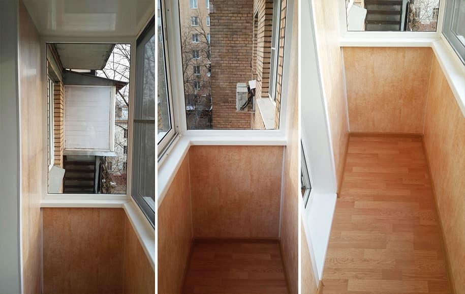 Отделка балконов и лоджий под ключ, цена, фото.